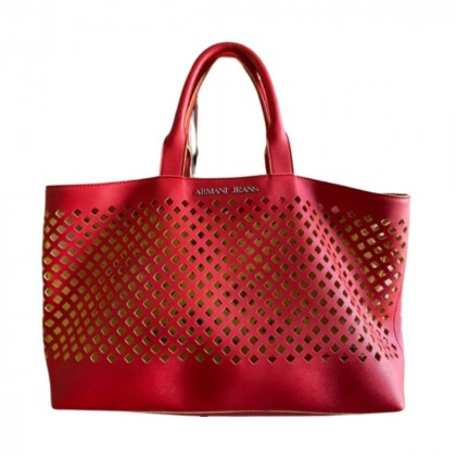Armani Jeans red tote bag