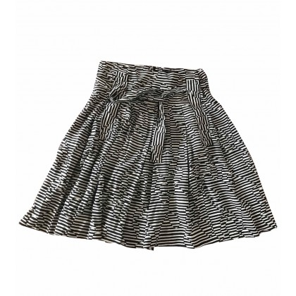 Weekend Max Mara black and white silk skirt IT44