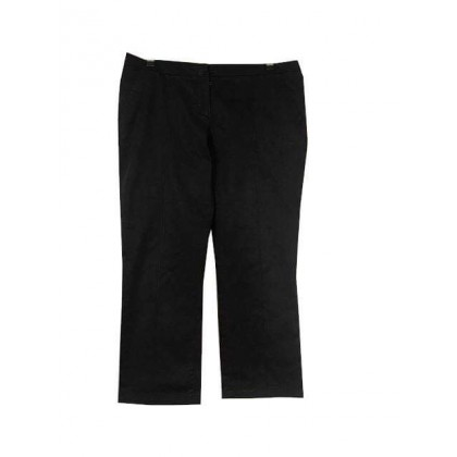 Prada black cotton straight leg cropped pants IT 48