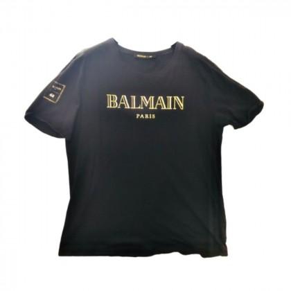 Balmain for H&M rare classic logo black T-shirt size M