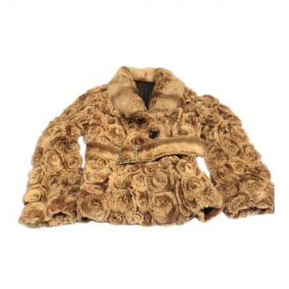 Camel Lapin Fur Coat