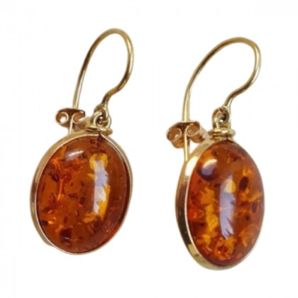 Dolly Boucogiannis amber stone earrings