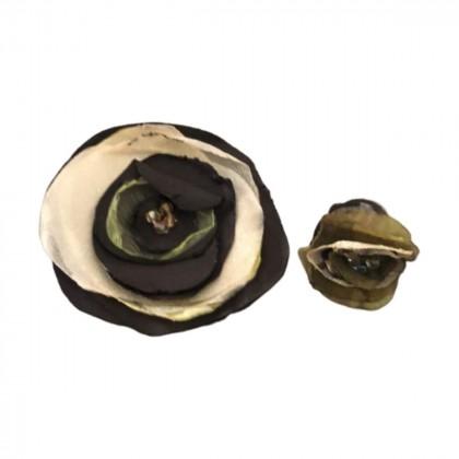 Handmade adjustable ring and brooch
