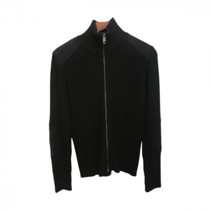 Burberry Black Wool Cardigan size M