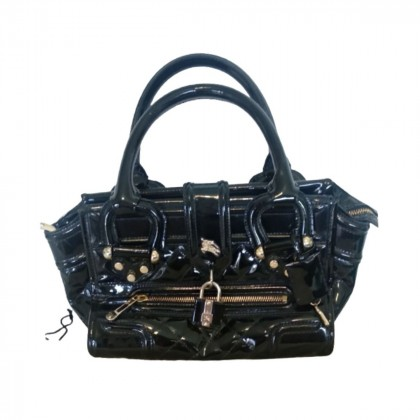 Burberry black patent leather bag limited edition