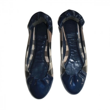 Burberry blue patent leather ballerinas size IT 39.5
