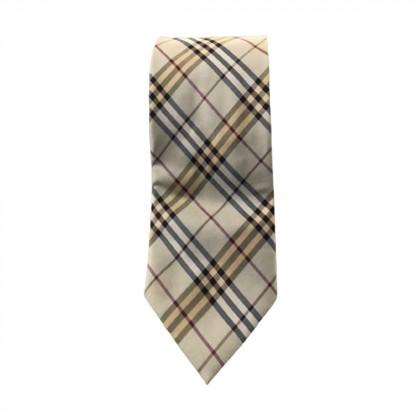 Burberry plaid silk tie
