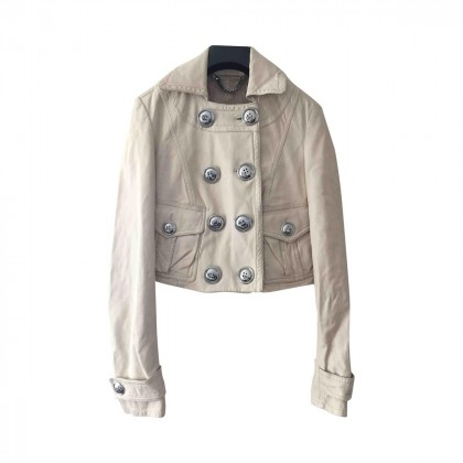 BURBERRY cropped leather jacket size IT40