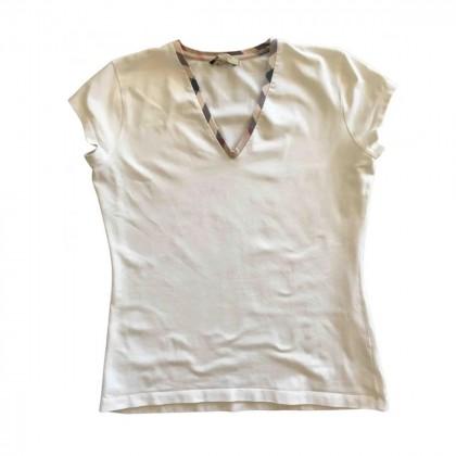 Burberry white cotton top size M