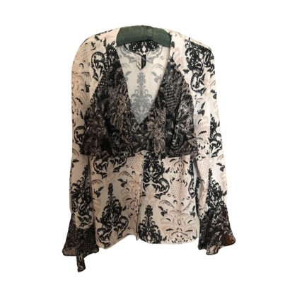Nadia Rapti black & white shirt size L