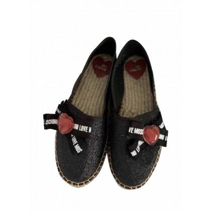 Moschino Love leather espadrille