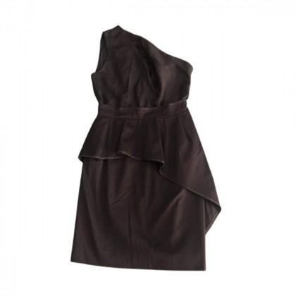 Carven black one side off shoulder dress size IT40