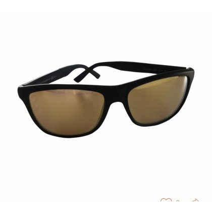 Gucci black frame gold mirror sunglasses unisex model