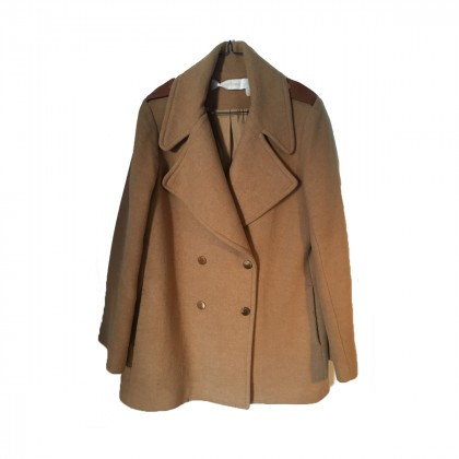 SEE BY CHLOÉ Wool-Blend Coat in Camel color size IT 42