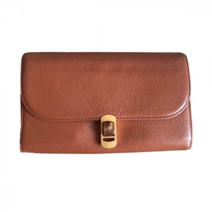 Coccinelle camel leather wallet