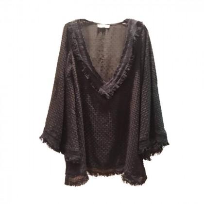 CKontova black sheer mini tunic dress onesize