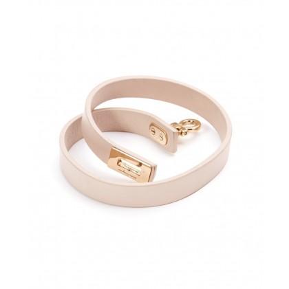Salvatore Ferragamo nude pink leather bracelet