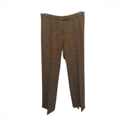 Max Mara Tweed Light Brown Trousers size IT48