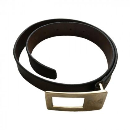 D&G brown leather belt 80cm
