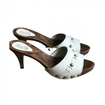 Dolce & Gabbana White Mules size IT40 brand new