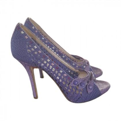 DIOR purple heeled sandals size IT 39