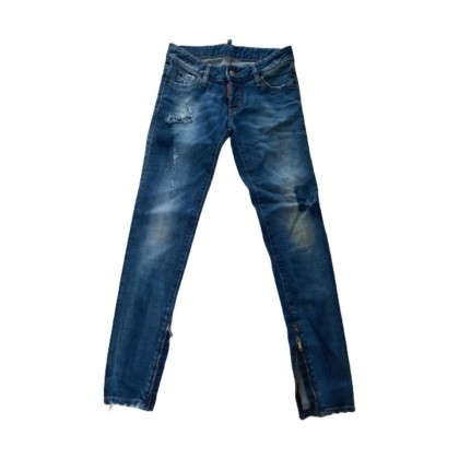 DSQUARED2 blue jeans with ankle zip  size IT 38