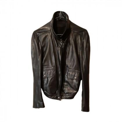 Donna Karan black leather jacket size M