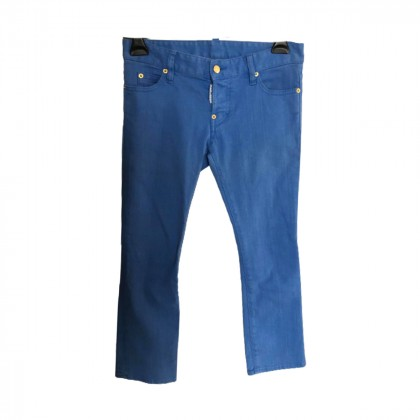 DSQUARED2 BLUE CROPPED PANTS SIZE IT 34/XS