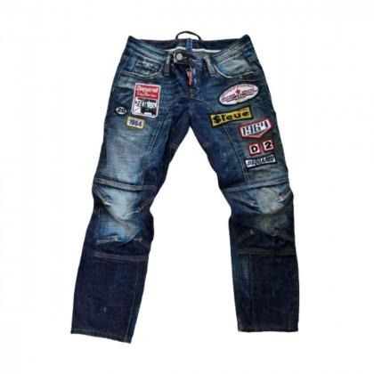 DSQUARED2 slogan-patch jeans size IT 40