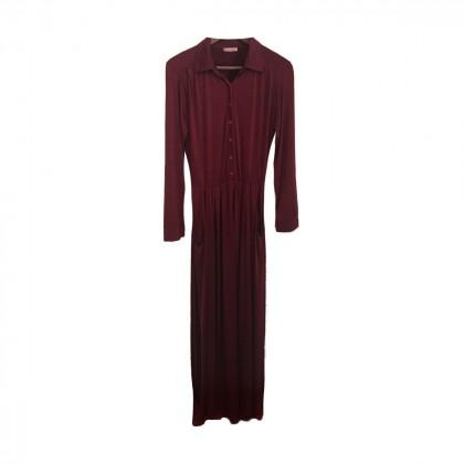 Eclecticsoiree Burgundy Shirtdress