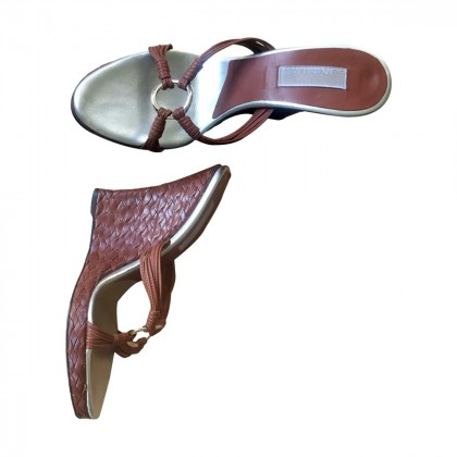 Michael Kors Tan leather mules