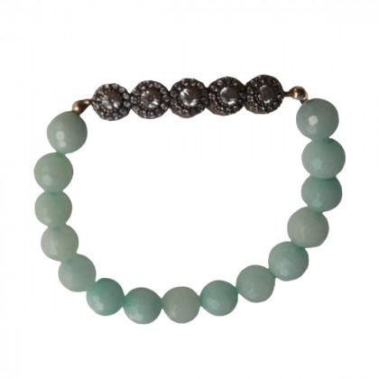 Art deco style bracelet with semi precious stones