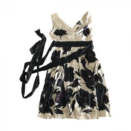DKNY Silk Dress with Flowers