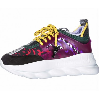 Versace Multi-Coloured Chain Reaction Sneakers