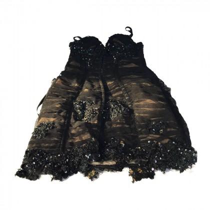 Cinema Couture Black Sequined Mini Dress