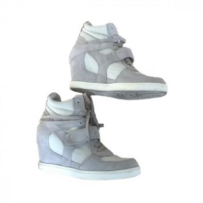 Αsh off white heeled trainers