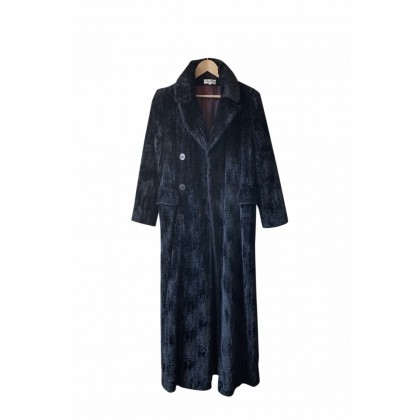 Georges Rech maxi faux fur black coat size FR40