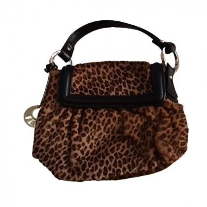 FENDI pony skin leather  Leopard Print Mini Bag