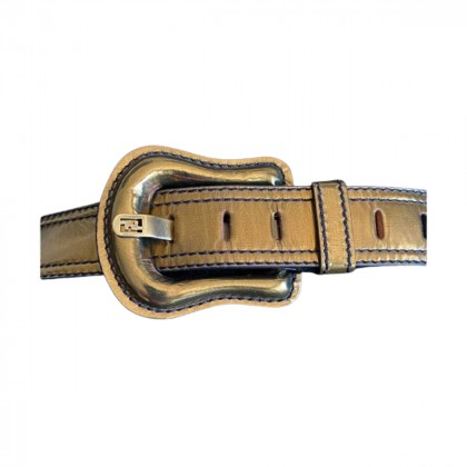 Fendi metallic leather belt size 90