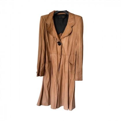 Fendi leather long coat size IT 48