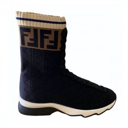 FENDI FF navy sock sneakers size IT 36 brand new