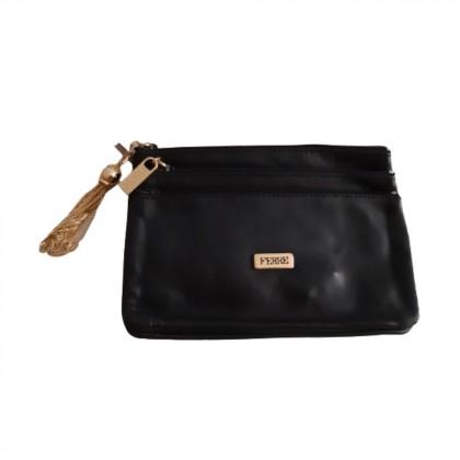 Ferre triple leather clutch
