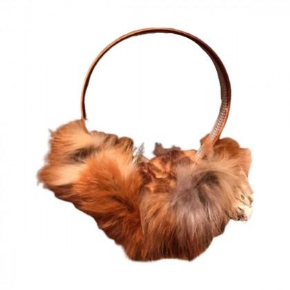 Fox fur earmuffs size S/M