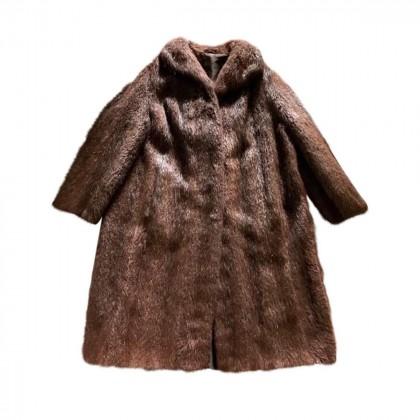 Real fur coat long size XL