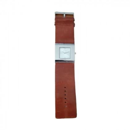 Furla tan leather strap quartz watch