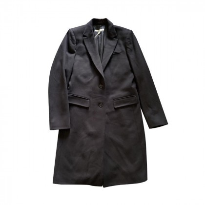 Gant 100 % wool  blue - black coat size M