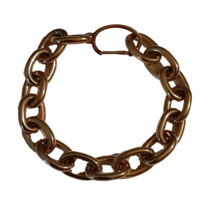 Gold-plated adjustable metal chain bracelet