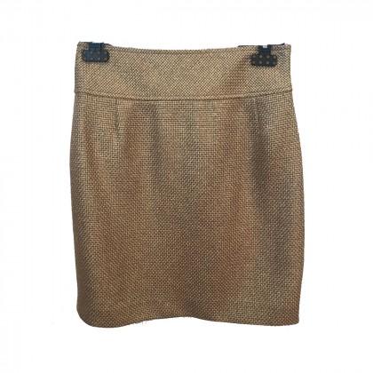 Escada silk gold skirt