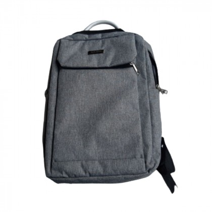 Grey unisex cloth backpack