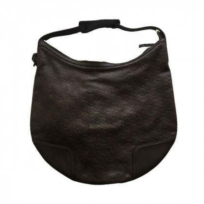 Gucci brown leather hobo bag